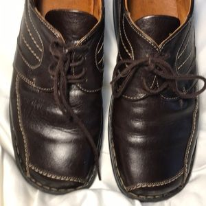 Josef Seibel Mens Brown Leather Dress Shoes 39 7